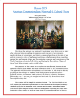 American Consitutionalism: Historical and Cultural Roots of Our Founding Documents