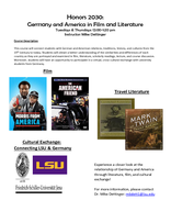 Germany & America in Film and Literature