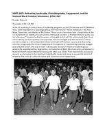 Reframing Leadership: (Auto)biography, Engagement, and the National Black Freedom Movement, 1954-1969