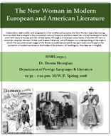 The New Woman in Modern European and American Literature