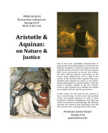 Aristotle and Aquinas: On Nature and Justice