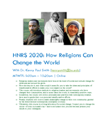How Religions Can Change the World
