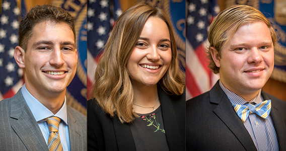 Three LSU Ogden Honors Students Selected for Inaugural Governor's Fellows Program