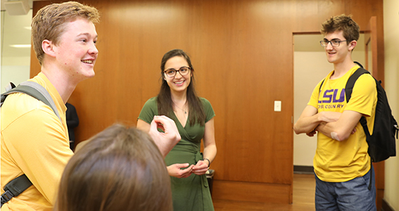 Ogden Honors College and Louisiana Service and Leadership (LASAL) graduate, Abbey Hotard, returned to campus this week to reflect on her career path and plans with current students.