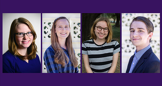 Four Ogden Honors Students Chosen as LSU's 2018 Goldwater Nominees for Cutting-Edge Undergraduate Research