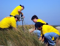 HC Students, Shell, and BTNEP Collaborate on Coastal Restoration Service Project