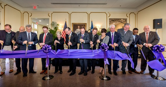 Roger Hadfield Ogden Honors College Cuts Ribbon on Renovated Home