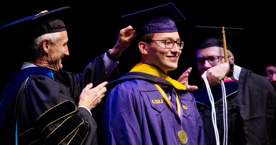 95 students graduated from the Ogden Honors College