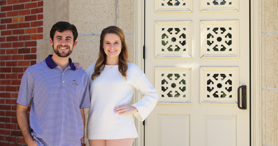 Ogden Honors students Zack Faircloth and Lindsey Landry lead LSU