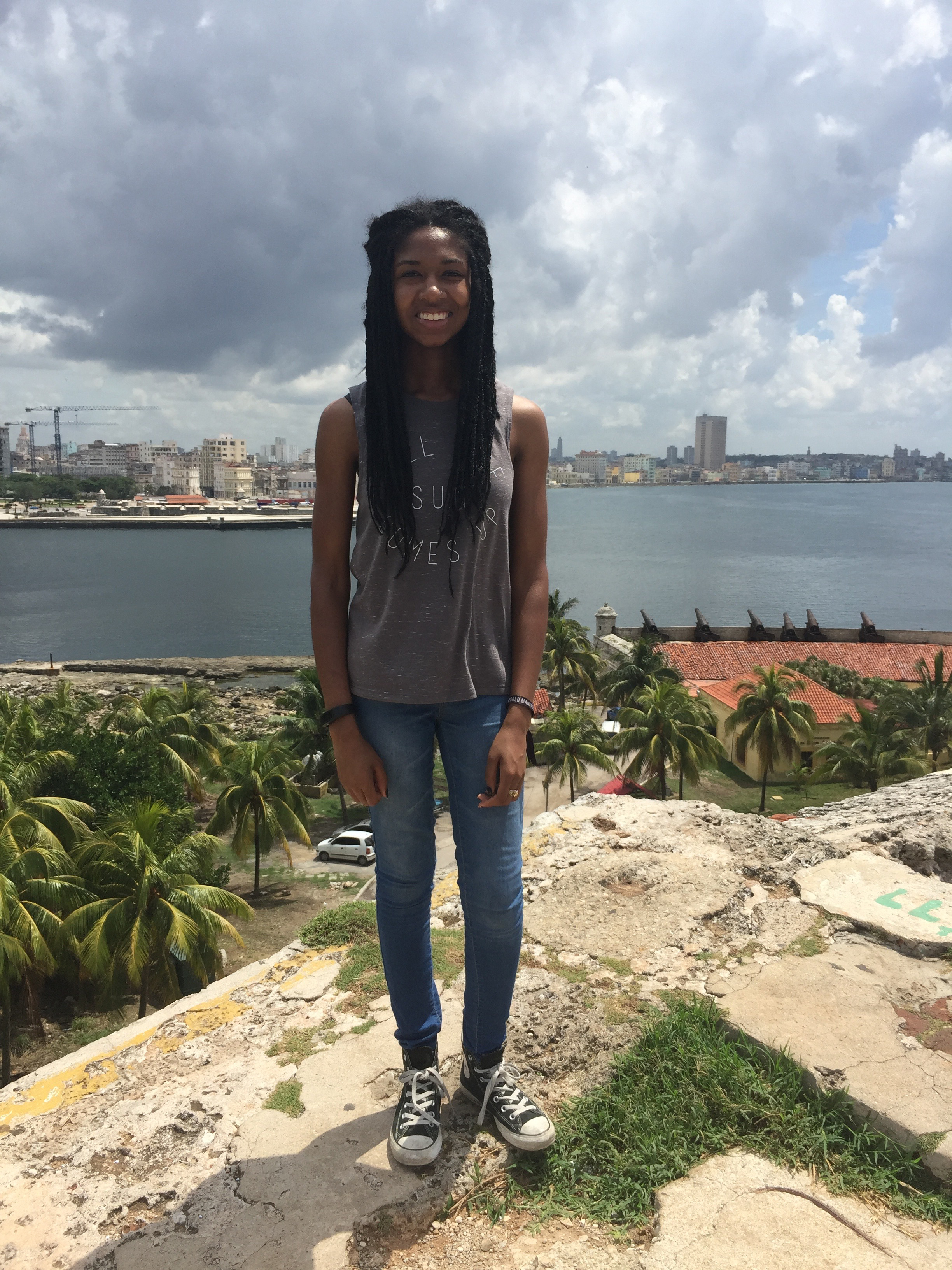 Student Morgan Johnson on her LSU Honors in Cuba trip.