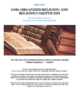 God, Organized Religion, and Religious Skepticism