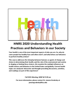 Understanding Health Practices and Behaviors in our Society