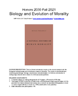 Biology and Evolution of Morality