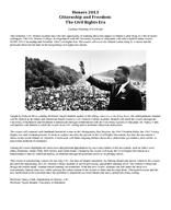 Citizenship and Freedom: The Civil Rights Era