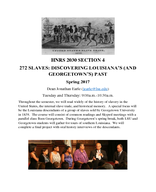 272 Slaves: Discovering Louisiana's (and Georgetown's) Past