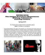 The Italian-American Experience: History, Literature, and Pop Culture