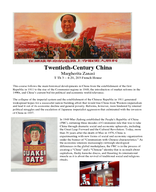 China in the 20th Century and Beyond