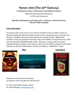 A Historical View of German Surveillance States: Nazi Germany and East Germany in Film Literature
