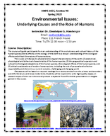 Environmental Issues: Underlying Causes and the Role of Humans