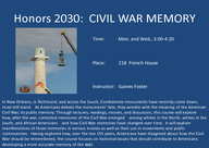 Civil War Memory: What Americans Have Thought and Think about the Civil War