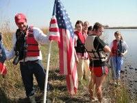Honors College Students Study Wetlands at LUMCON