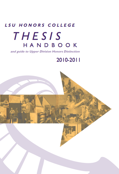 Honors College Thesis Handbook Now Available