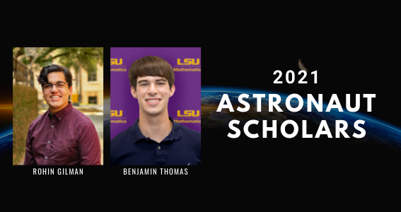 Two Ogden Honors Students Named 2021 Astronaut Scholars